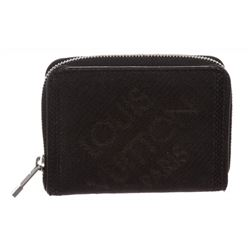 Louis Vuitton Black Damier Geant Canvas Zippy Coin Wallet