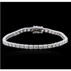 14KT White Gold 6.25 ctw Diamond Tennis Bracelet