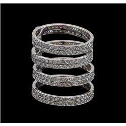 14KT White Gold 1.07 ctw Diamond Ring