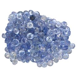 13.73 ctw Round Mixed Tanzanite Parcel