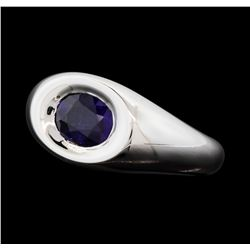 1.61 ctw Sapphire  Ring - 18KT White Gold