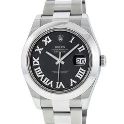 Rolex Stainless Steel Diamond DateJust Men's Watch