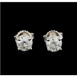 14KT White Gold 1.29 ctw Diamond Stud Earrings