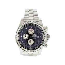 Breitling Stainless Steel 6.00 ctw Diamond Super Avenger Men's Watch