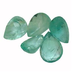 3.27 ctw Pear Mixed Emerald Parcel