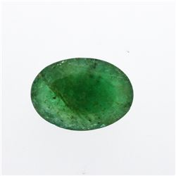 4.5 ct. One Oval Cut Natural Emerald