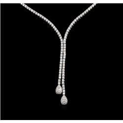 14KT White Gold 1.03 ctw Diamond Necklace