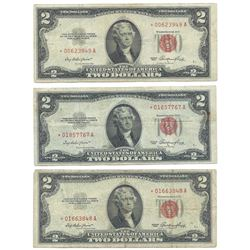 (6) 1953 $2 Legal Tender Star Notes