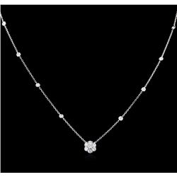 0.80 ctw Diamond Necklace - 14KT White Gold