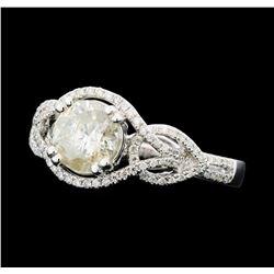 1.61 ctw Diamond Ring - 14KT White Gold
