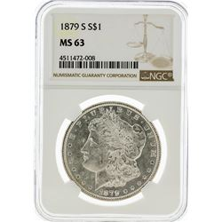 1879-S NGC MS63 Morgan Silver Dollar