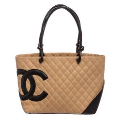 Chanel Beige Cambon Quilted Leather Shoulder Bag