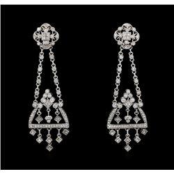 2.62 ctw Diamond Earrings - 14KT White Gold