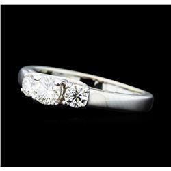 0.50 ctw Diamond Three Stone Ring - 14KT White Gold