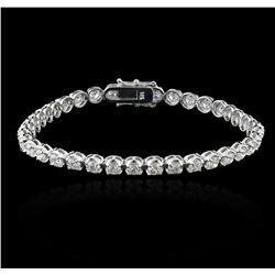 14KT White Gold 6.72 ctw Diamond Tennis Bracelet