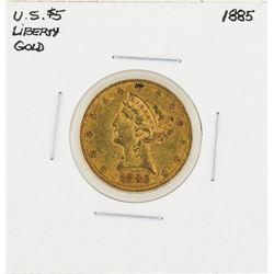 1885 $5 Liberty Head Half Eagle Gold Coin