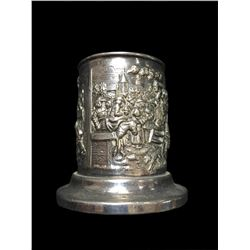 Hallmarked Dutch Silver Repousse Spoon Cup Vase