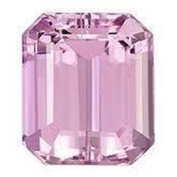 9 Ct. Pink Emerald Cut Bianco Diamond