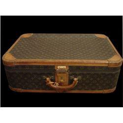 Vintage Louis Vuitton Monogrammed Canvas Suitcase