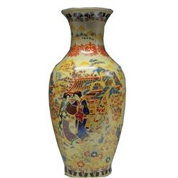 Delicate Chinese Famille Rose Porcelain Hand Painting Belle Vase