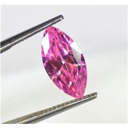 Natural 5 Carat Marquise Cut EGL Certified Pink Sapphire Loose Gemstone