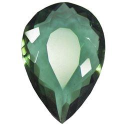 35.65 Ct Pear Shape EGL Certified Green Amethyst Loose Gemstone