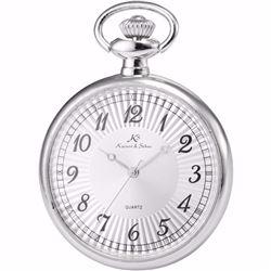 Men's Retro Silver Open Face Quartz Pendant Pocket Watch