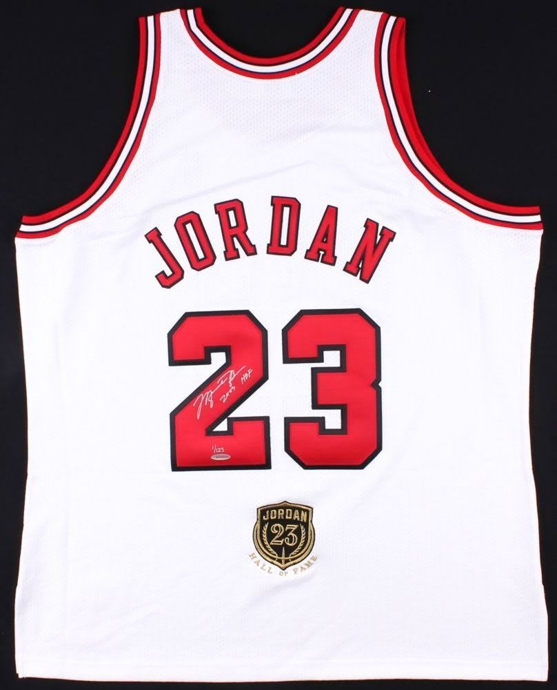 hot sale online ae53f e6ba2 Michael Jordan Signed Limited Edition Authentic Bulls Jersey ...