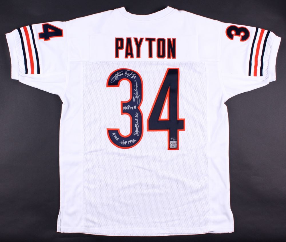 timeless design baf45 10d50 Walter Payton Signed Bears Limited Edition Jersey With (5 ...