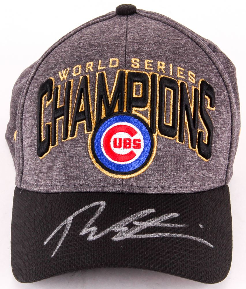 36f25f76ea653 Image 1   Theo Epstein Signed Cubs 2016 World Series Champions New Era Hat  (Steiner