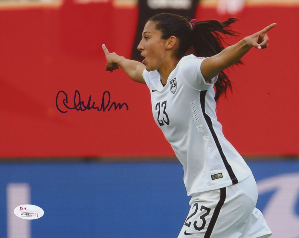 Christen Press Signed Team USA 8x10 Photo (JSA COA)