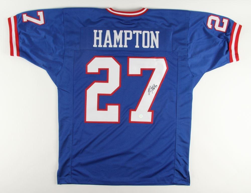 pretty nice a52c6 08246 Rodney Hampton Signed Giants Throwback Jersey (Gridiron ...