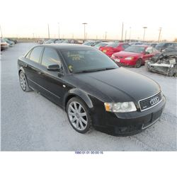 2004 - AUDI A4 // SALVAGE TITLE // FLOOD DAMAGE