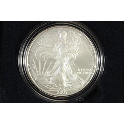 2007-W AMERICAN SILVER EAGLE UNC