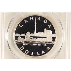 1984 CANADA TORONTO SILVER DOLLAR PCGS PR69 DCAM
