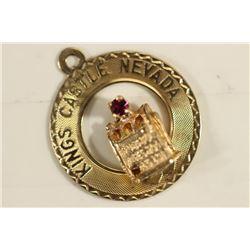 1.7 GRAM 14KT GOLD KINGS CASTLE NEVADA CHARM