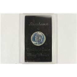1972-S IKE SILVER DOLLAR PROOF (BROWN PACK) NO BOX
