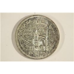 1958 CANADA TOTEM SILVER DOLLAR UNC