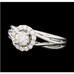 0.74 ctw Diamond Ring - 14KT White Gold