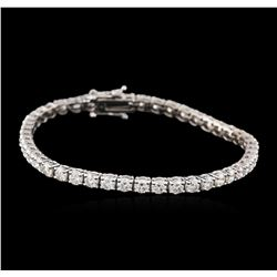 14KT White Gold 6.05 ctw Diamond Tennis Bracelet