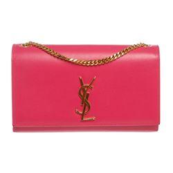 Yves Saint Laurent Pink Monogram Chain Shoulder Bag