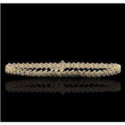 14KT Yellow Gold 1.10 ctw Diamond Bracelet