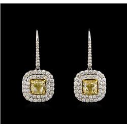 18KT Two-Tone Gold 5.81 ctw Diamond Earrings