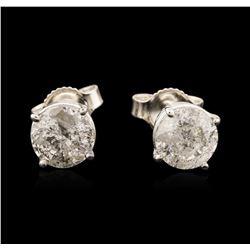 14KT White Gold 1.72 ctw Diamond Stud Earrings