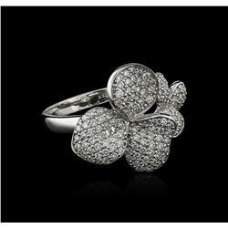14KT White Gold 0.77 ctw Diamond Ring