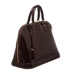 Louis Vuitton Vernis Amarante Leather Monogram Alma PM Bag