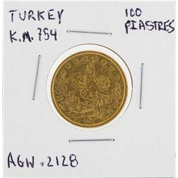 100 Turkey Piastre Kurush Gold Coin
