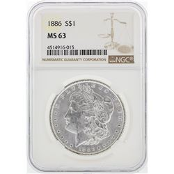 1886 NGC MS63 Morgan Silver Dollar