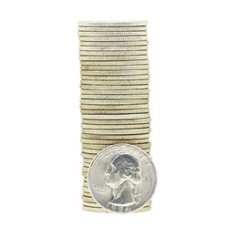 Tube of 40 1954S Washington Quarter Dollars