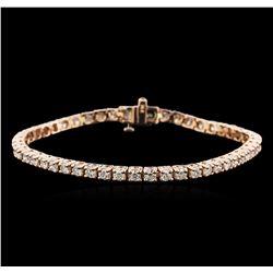 14KT Rose Gold 4.65 ctw Diamond Tennis Bracelet